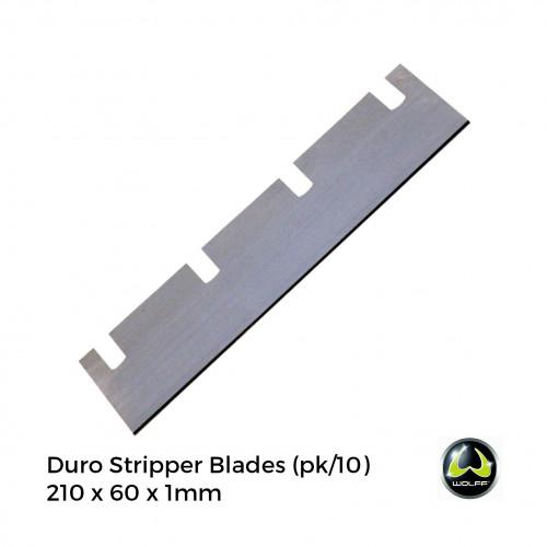 1pk: Wolff - Duro Stripper - Spare Blades For Vinyl - 210x60x1mm - (10/pk)