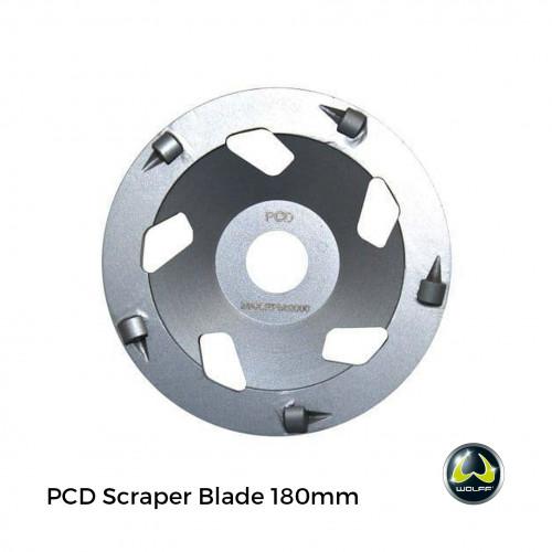 Wolff - BS180 - PCD Scraper Blade for Handheld Grinding Machine - 180mm - Silver