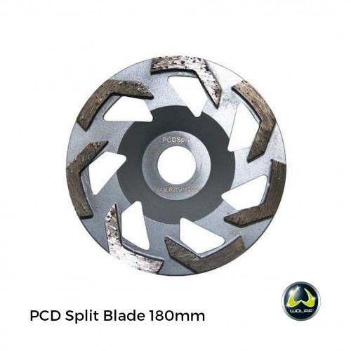 Wolff - BS180 - PCD Split Blade for Handheld Grinding Machine - 180mm - Silver